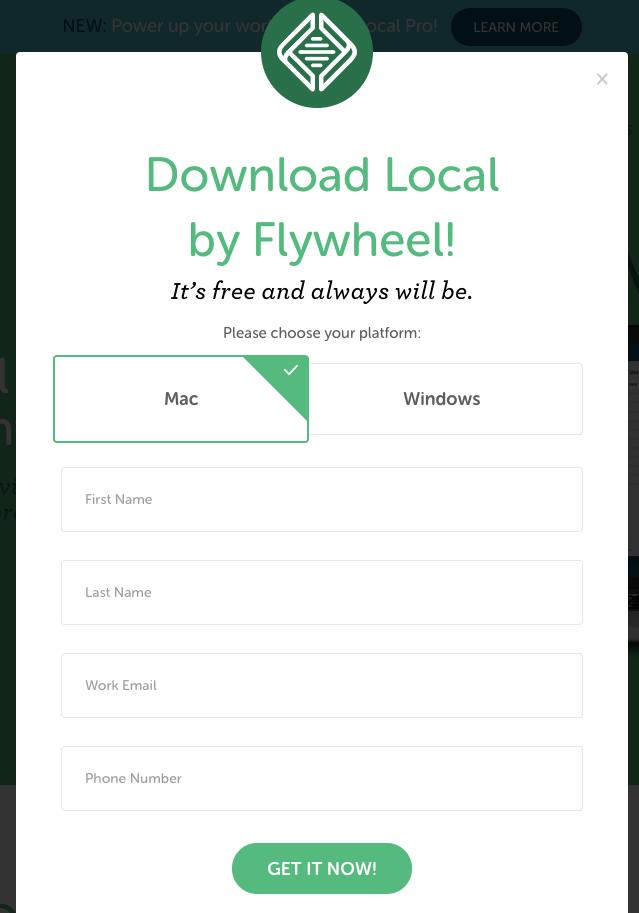 画像:Local by Flywheelダウンロード途中の画面